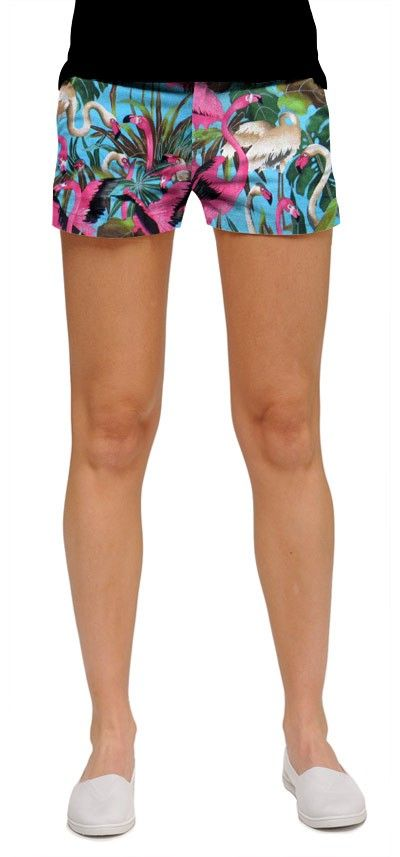 Pink flamingos minishorts