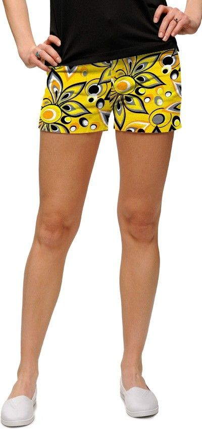 Shagadelic yellow minishorts
