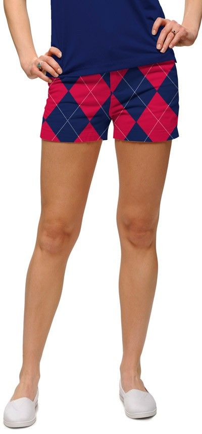 Navy n red minishorts
