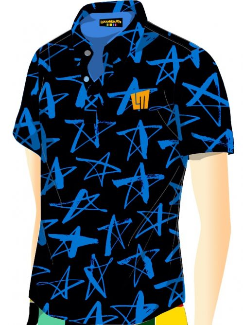 Shooting Star Blue print Polo