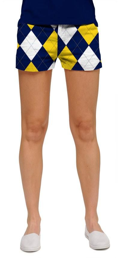 Blue n gold minishorts