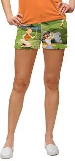 Birds of paradise minishorts