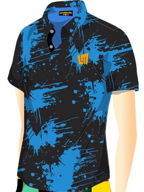 Jolly Roger Blue Print PoloDipstick Blue edition Polo