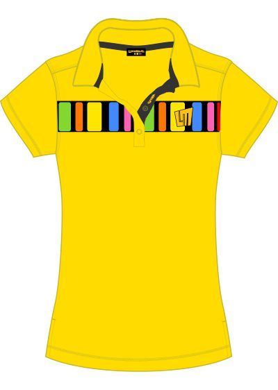 Barcode3 Yellow Ladies Polo