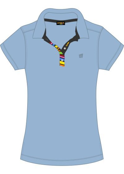 Barcode Ladie Powder Blue Polo