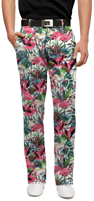 Vintage pink flamingos pants