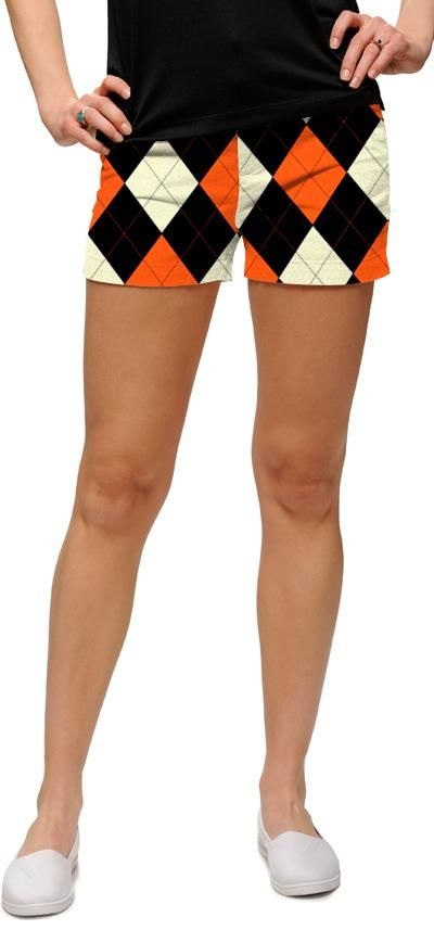 Orange n black minishorts